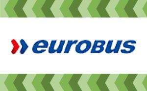 bilet autobusowy eurobus logo, przewozy do londynu