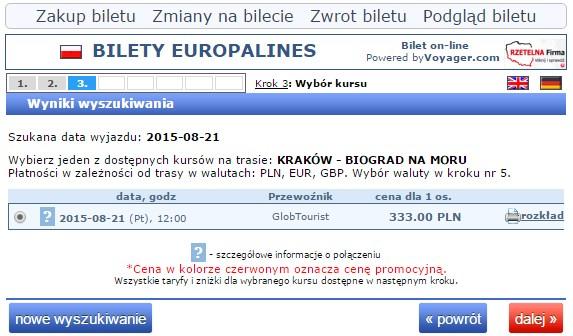 Bilety autokarowe Chorwacja