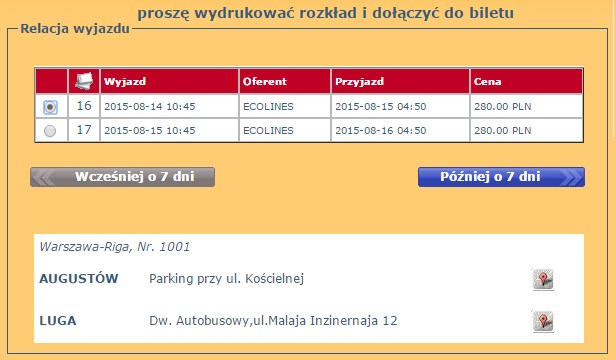 Bilety autokarowe Rosja